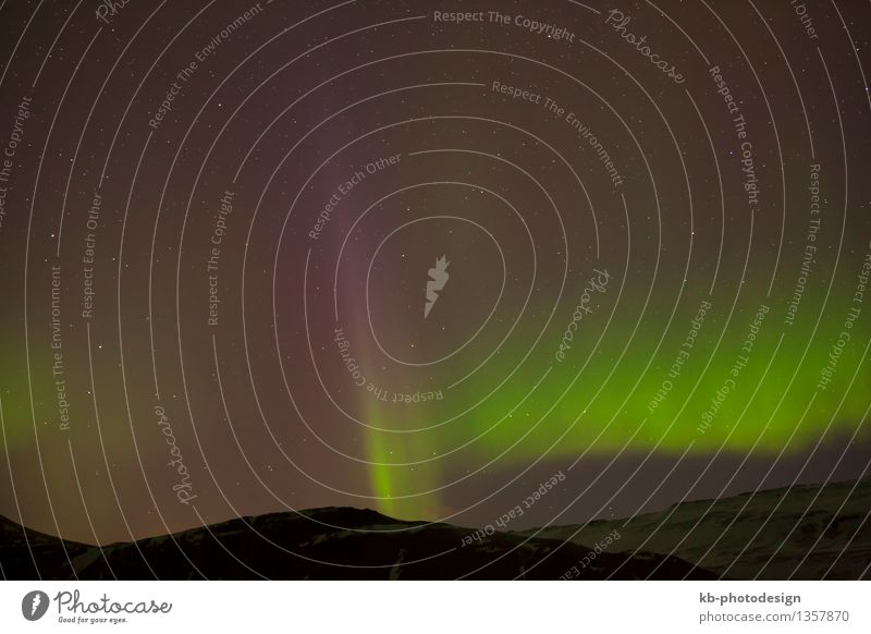 Different colors of northern lights Vacation & Travel Tourism Adventure Far-off places Winter Aurora Borealis Green Starling different Natural phenomenon clouds