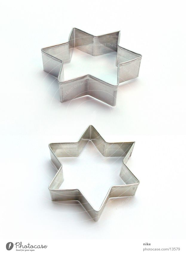 Christmas & Advent Leisure and hobbies In pairs Empty Star (Symbol) Dough Cookie Side by side Baking tin