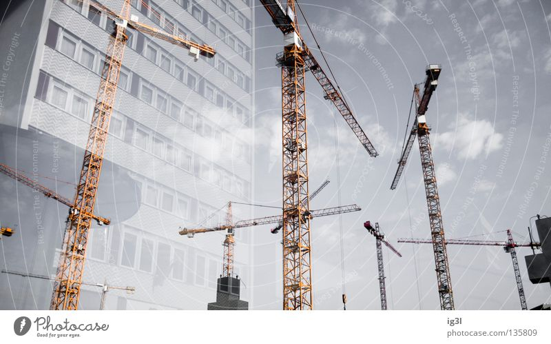 global_update2.1::citykit premium OVP **NEW!!!** Town House (Residential Structure) Reflection Construction site Crane Crane operator Geometry Infinity
