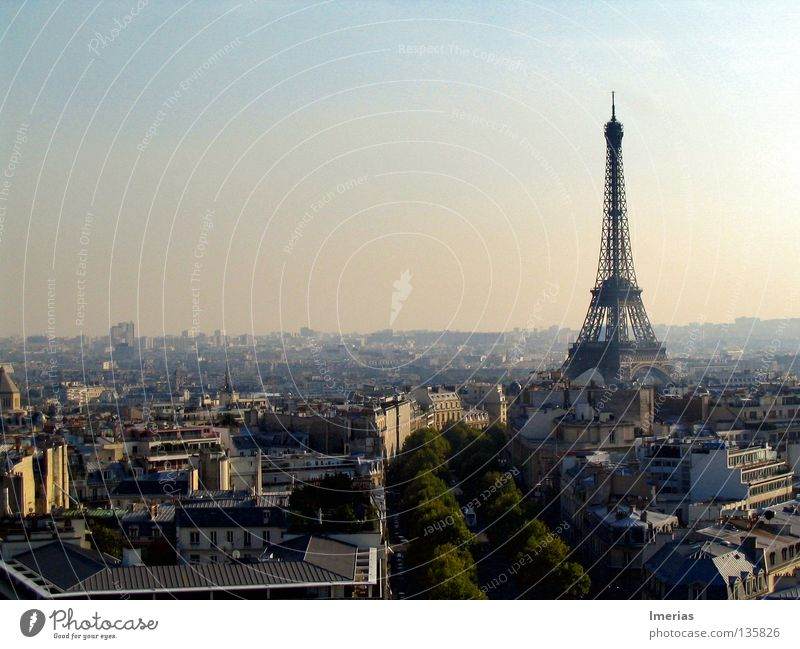 la tour eiffel Sun Telecommunications Beautiful weather Capital city Downtown Skyline House (Residential Structure) Building Architecture Antenna Landmark