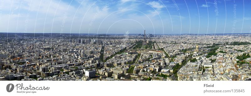 Vacation & Travel Large Paris Skyline Panorama (Format) Eiffel Tower La Défense Montparnasse Station