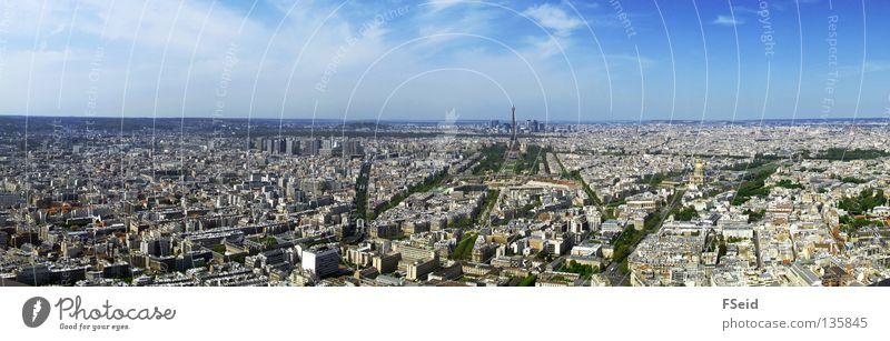 Vacation & Travel Large Paris Skyline Panorama (Format) Eiffel Tower La Défense Montparnasse Station