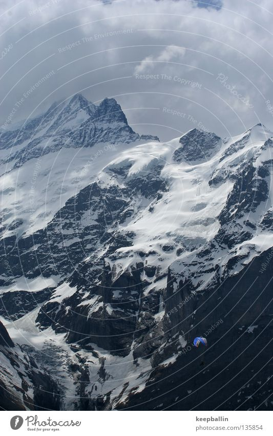 Clouds Snow Playing Mountain Ice Flying Switzerland Glacier Paragliding Extreme sports