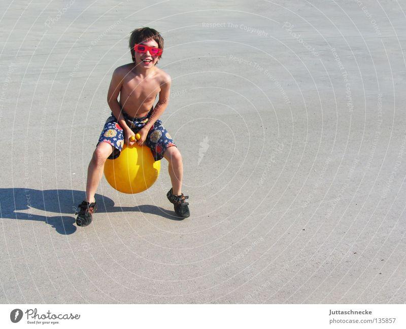 Child Summer Joy Yellow Playing Boy (child) Jump Funny Tall Action Eyeglasses Retro Toys Athletic Sunglasses Hop