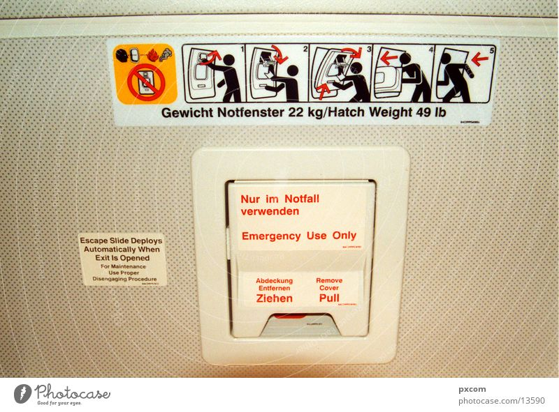 cnd.02 Pictogram Things condor Boeing emergency exit