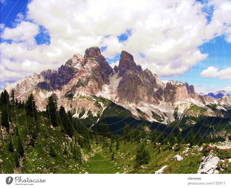 dolomites monte cristallo Dolomites Italy Vacation & Travel Alpine pasture Hiking Mountain Joy Rock Nature cortina sixths