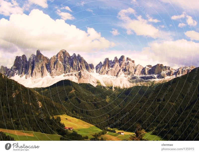 dolomite intellectual peaks Dolomites Italy Vacation & Travel Alpine pasture Mountain Joy hostages Rock Nature villnöss Hut Sky