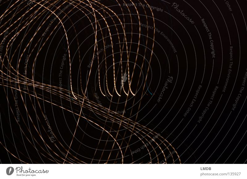 messy Stripe Night Neon light Tracer path Long exposure Evening Dark Black Night shot Rotate Pattern Background picture Side Half Muddled Striped Circle Colour