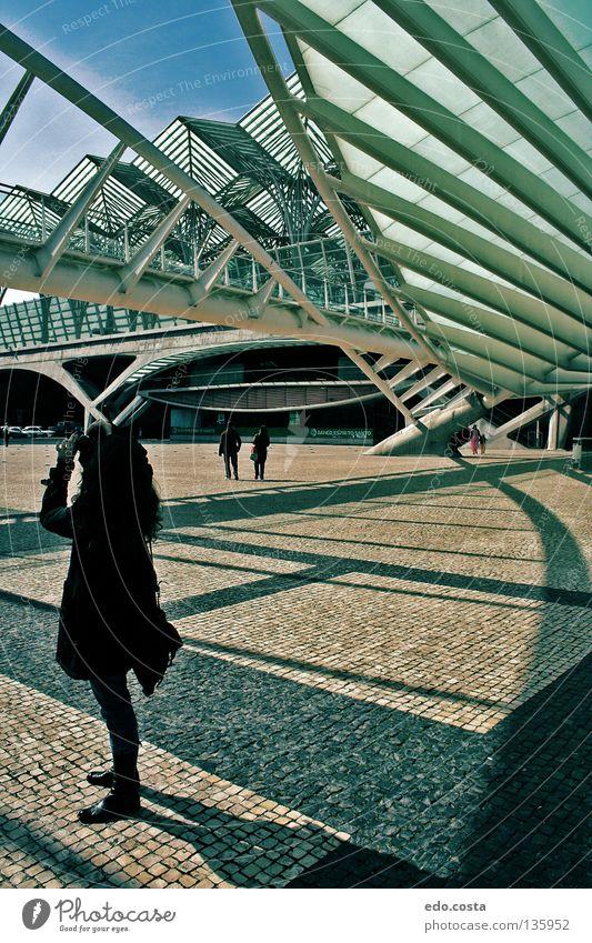 Lisbon#1 Portugal Station Train station Europe Lisbona architecture World exposition woman train