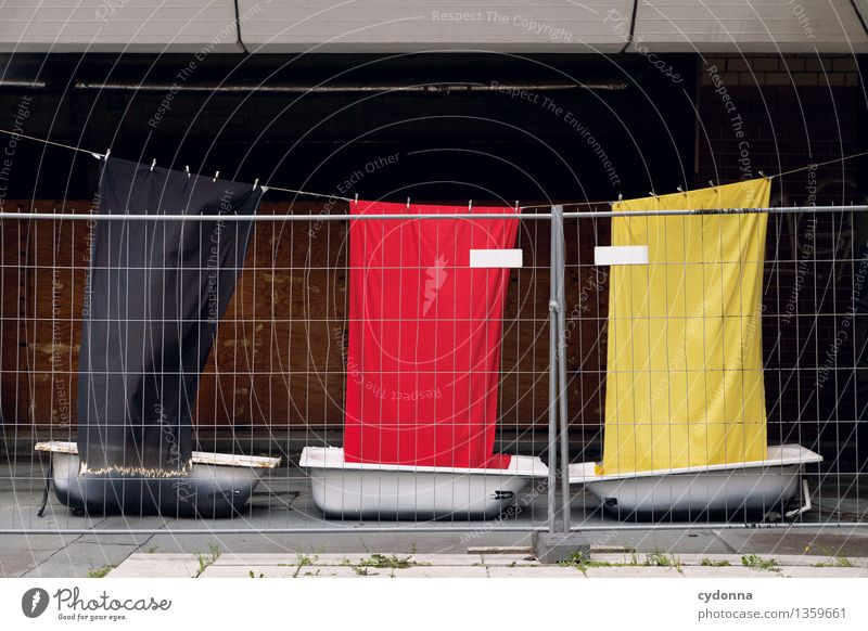 Loneliness Life Freedom Germany Future Bathtub Sign Protection Safety German Flag Cloth Fence Barrier Advice Argument