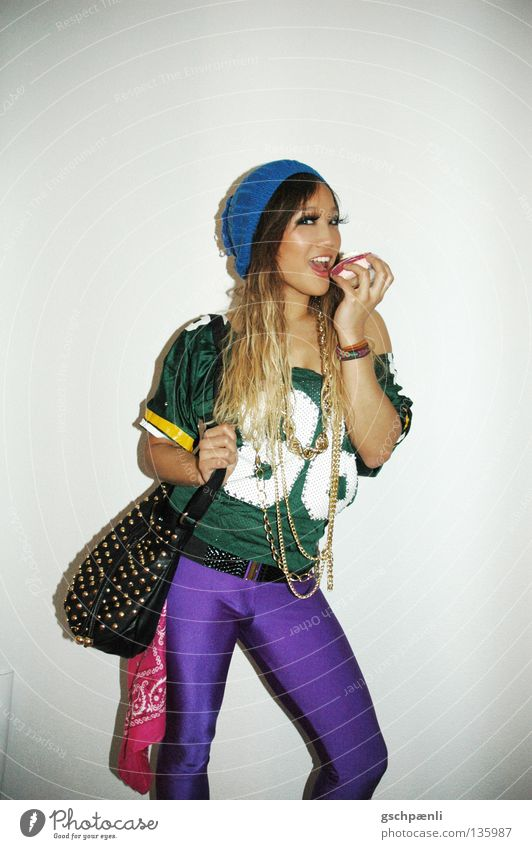 Lala loves sweets Style Woman Sweet Cute Beautiful Extreme Leggings Retro Narrow Bag Hip & trendy Funny freaky Brash Nutrition WHERE THERE CA$H AT Eating