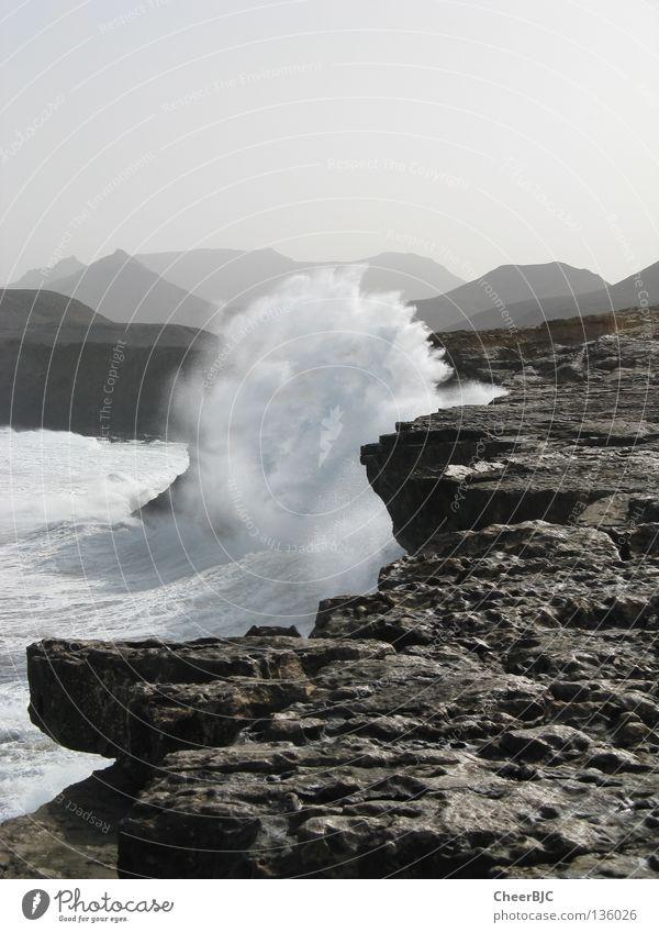 Water Ocean Summer Beach Vacation & Travel Waves Coast Rock Surf Fuerteventura