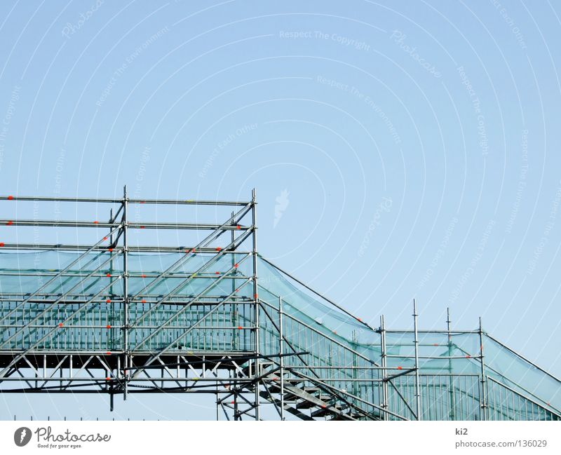Blue Lanes & trails Stairs Bridge To fall Ascending Scaffold Conquer