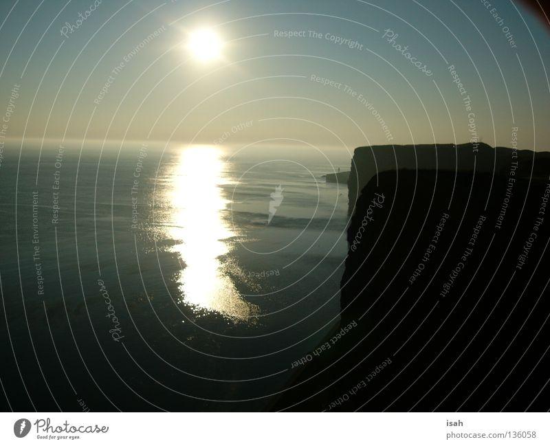 Sun Ocean Beach Coast Island Dusk Celestial bodies and the universe Helgoland