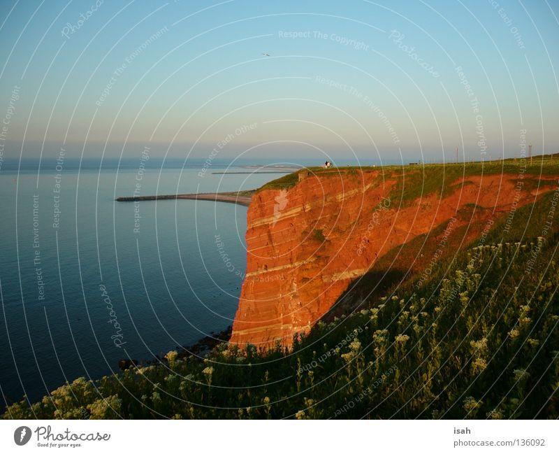 Ocean Red Beach Stone Coast Rock Island Cliff Helgoland