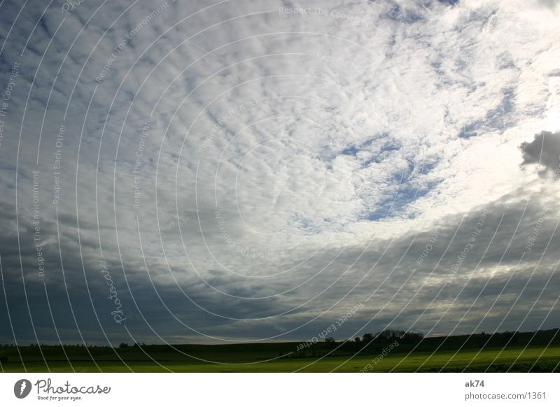 vastness Clouds Wide angle Back-light Sky Blue