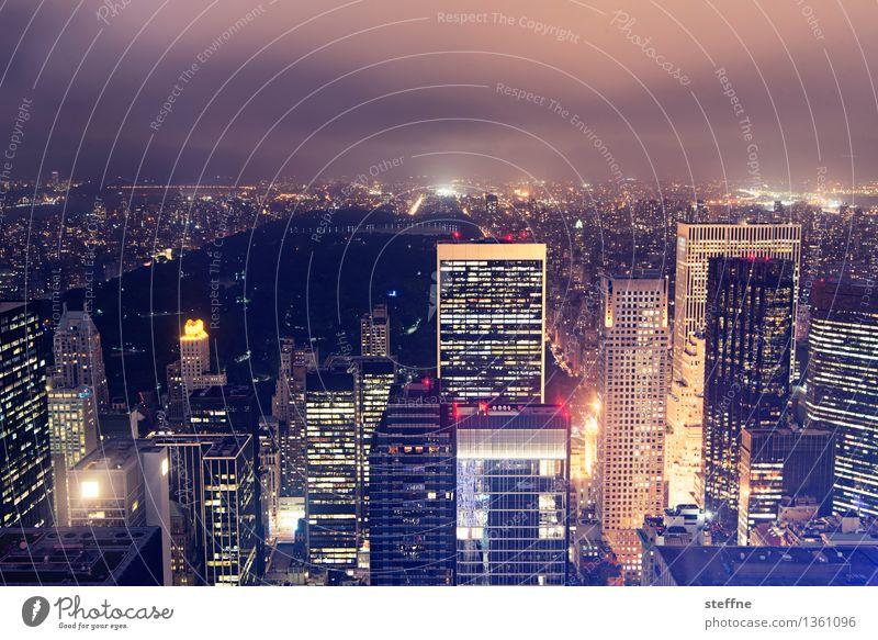 City Freedom City life High-rise Esthetic USA Skyline Landmark Americas Manhattan New York City Night shot Central Park