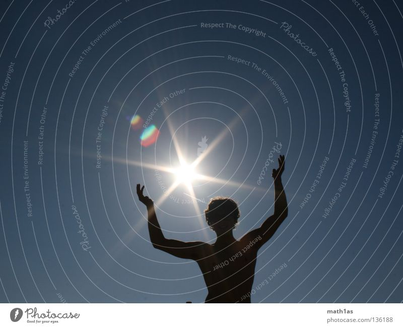 Man Sun Blue Summer Lighting Masculine Star (Symbol) Musculature