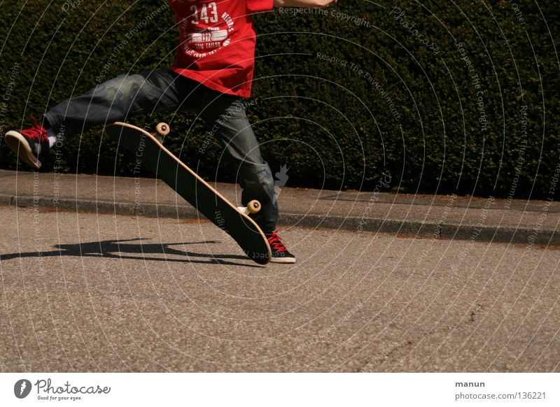 Child Youth (Young adults) Red Joy Black Street Sports Boy (child) Jump Playing Movement Healthy Flying Action Aviation Leisure and hobbies