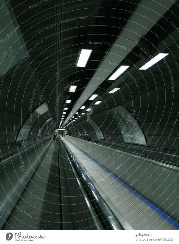 City Cold Movement Speed Modern Logistics Open Infinity Tunnel Airport Underground Neon light Haste Subsoil Runway Whirlpool
