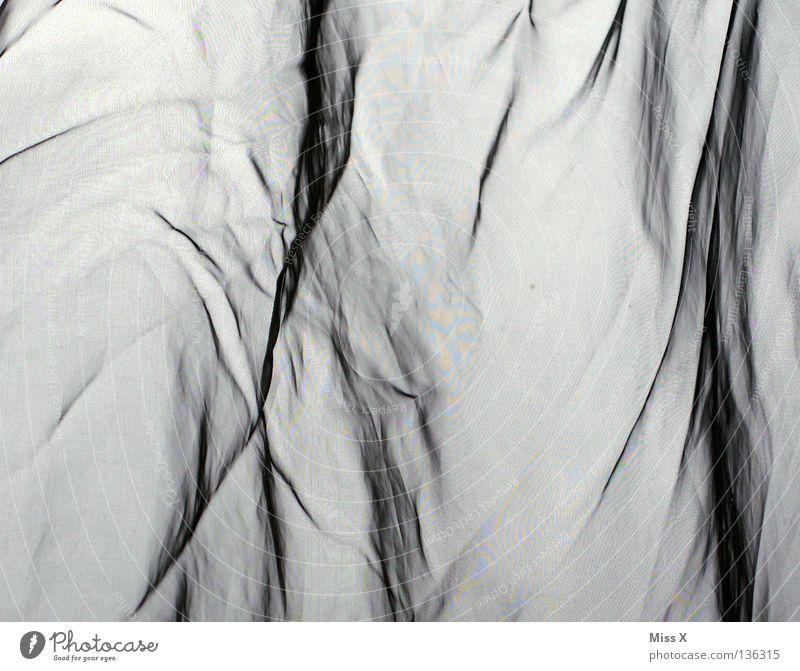 White Gray Cloth Wrinkles Drape Transparent Furrow Bedroom Iron Silk Woven Moiré effect