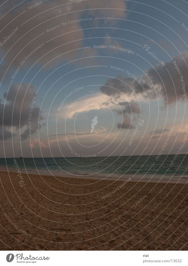 Caribbean sky at sunrise Dominican Republic Sunrise Ocean Clouds Romance Beach Punta Cana South America Cuba Sand Water Sky