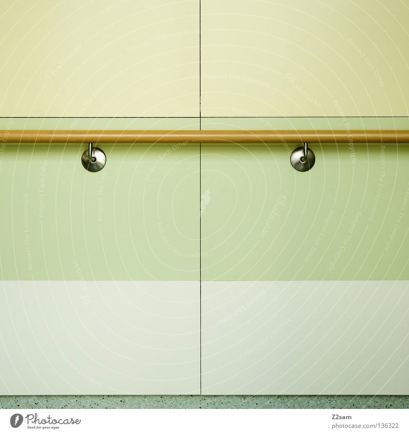 Green Colour Yellow Wall (building) Wood Style Line Background picture Things Simple Handrail Square Silver Graphic Beige Technical