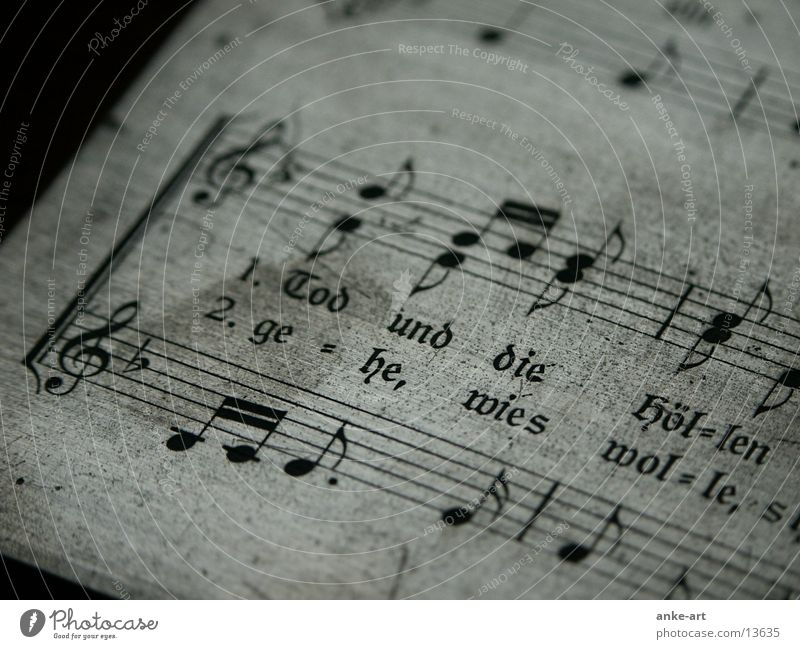 printing plate:1 Text Historic Obscure Musical notes Breakage