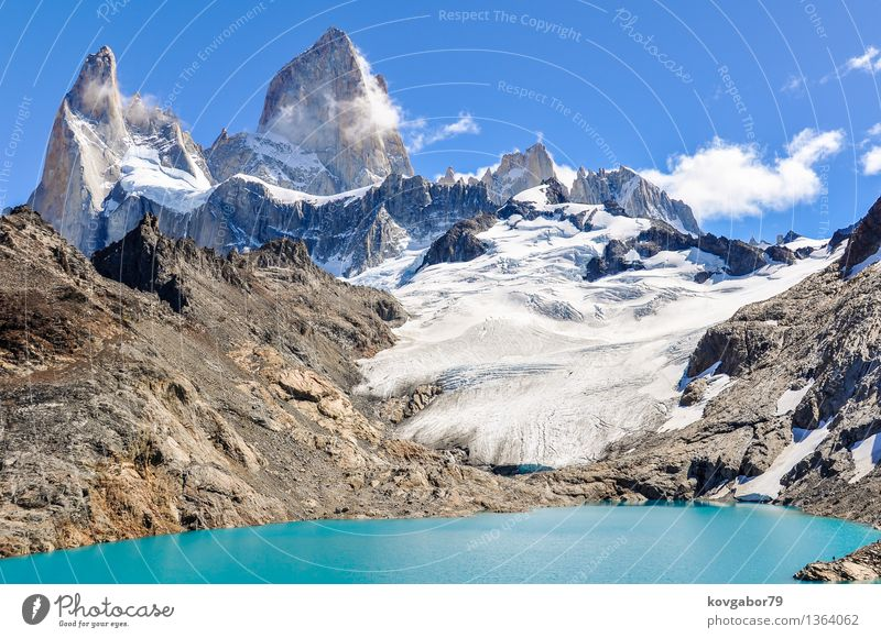 The agoon, Fitz Roy Walk, El Chalten, Patagonia, Argentina Sky Nature Blue Landscape Mountain Snow Lake Rock Park Hiking Vantage point Climbing South