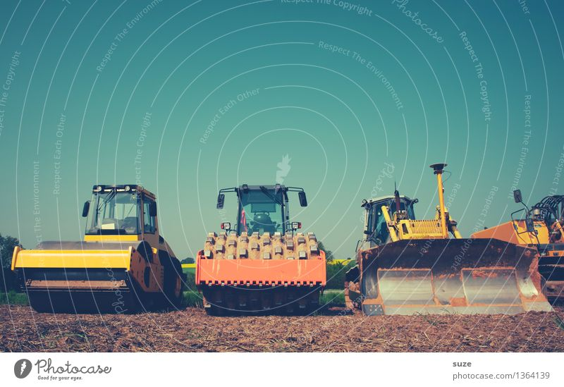 Exchange workplace for house by the sea Construction machinery Construction site Roll Work and employment Workplace Industry Industrial Photography SME