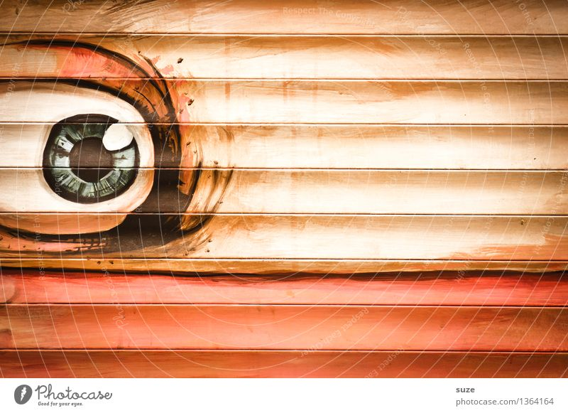 Eyes Wall (building) Graffiti Style Wall (barrier) Art Lifestyle Orange Design Fear Decoration Characters Creativity Observe Culture Youth culture