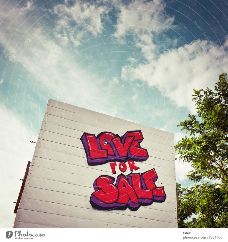 Sky Eroticism Red Graffiti Love Design Characters Signs and labeling Sex Passion Typography Street art Divide Sell Loyalty