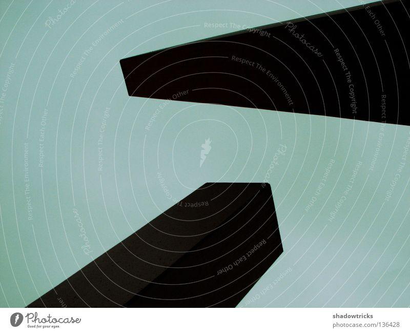 Sky Gray Stone Architecture Concrete Crazy To fall Geometry Sharp-edged Bump Bauhaus Antagonism