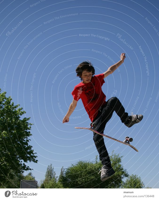 Child Youth (Young adults) Joy Sports Jump Movement Healthy Success Action Leisure and hobbies Skateboarding Athletic Upward Funsport