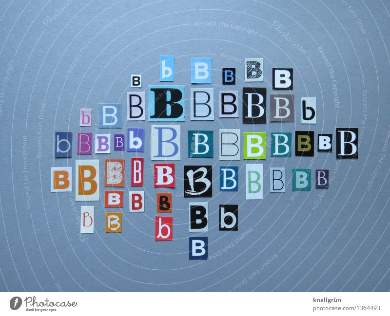 I'll buy a B Characters Communicate Sharp-edged Multicoloured Latin alphabet Capital letter Letters (alphabet) Language Selection Many Colour photo Studio shot