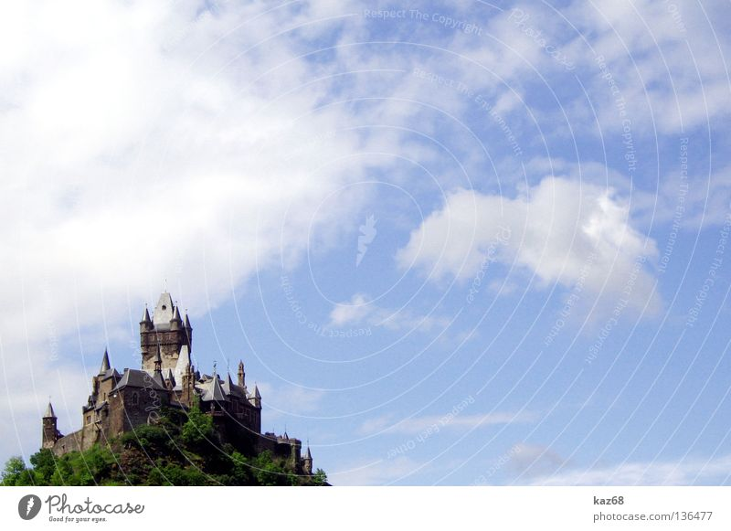 Cochem Clouds Sword Witch Witch burning Old hag Mosel (wine-growing area) Fortress Cold Vacation & Travel Merlon Sky Masonry Wall (barrier) Castle tower