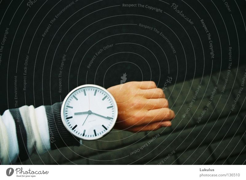 White Vacation & Travel Work and employment Gray Business Wait Arm Design Large Time Management New Future Round Clock Stress