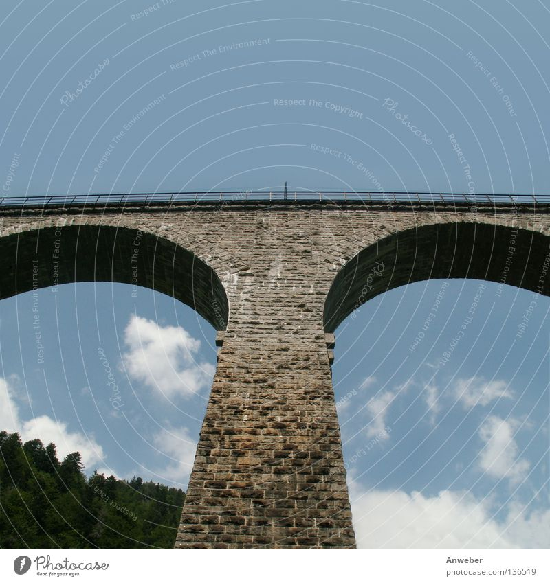 Nature Old Vacation & Travel Beautiful Summer Clouds Wall (building) Architecture Wall (barrier) Stone Art Germany Tourism Transport Railroad Bridge
