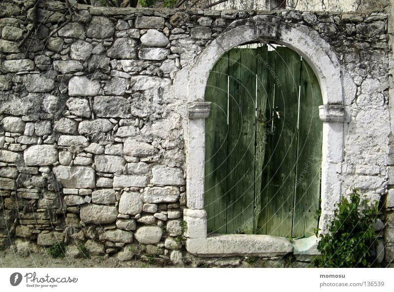 Old House (Residential Structure) Stone Wall (barrier) Gate Derelict Tuscany Crete
