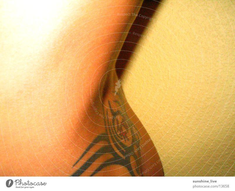 Woman Eroticism Feminine Back Tattoo Skin Naked flesh