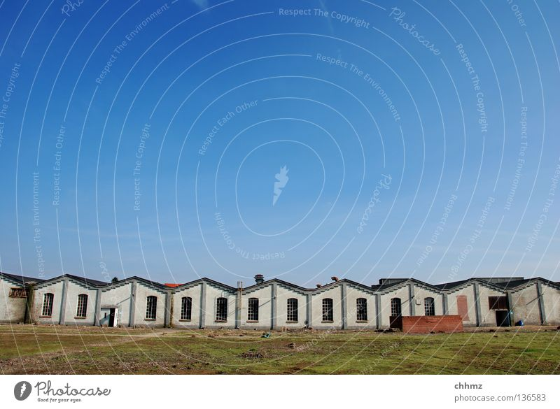 Sky House (Residential Structure) Loneliness Work and employment Building Horizon Industry Arrangement Derelict Row Historic Fence Warehouse Container