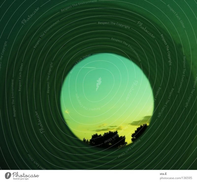 tunnel vision Tunnel Tunnel vision Narrow Round Circle Tree Treetop Progress Sunset Clouds Arrangement Pattern Obscure Fisheye Sky Looking Limitation Detail