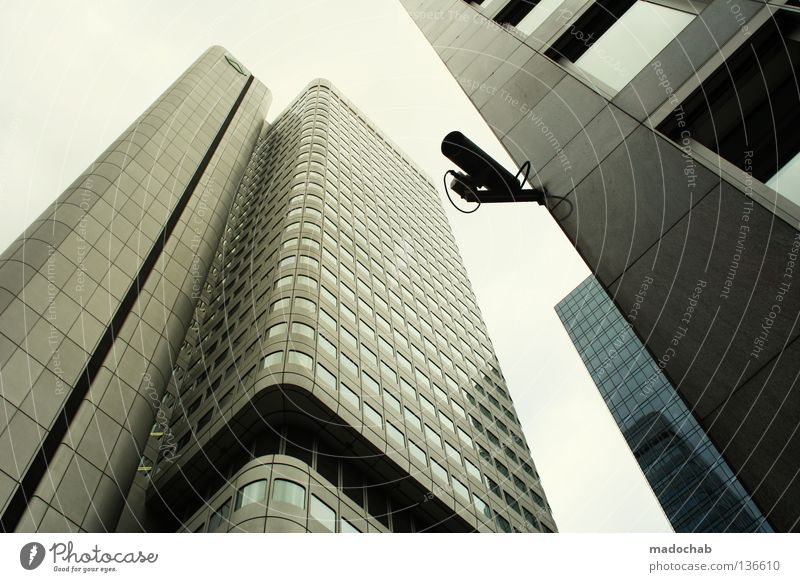 Sky City Architecture Tall High-rise Might Story Frankfurt Banking district