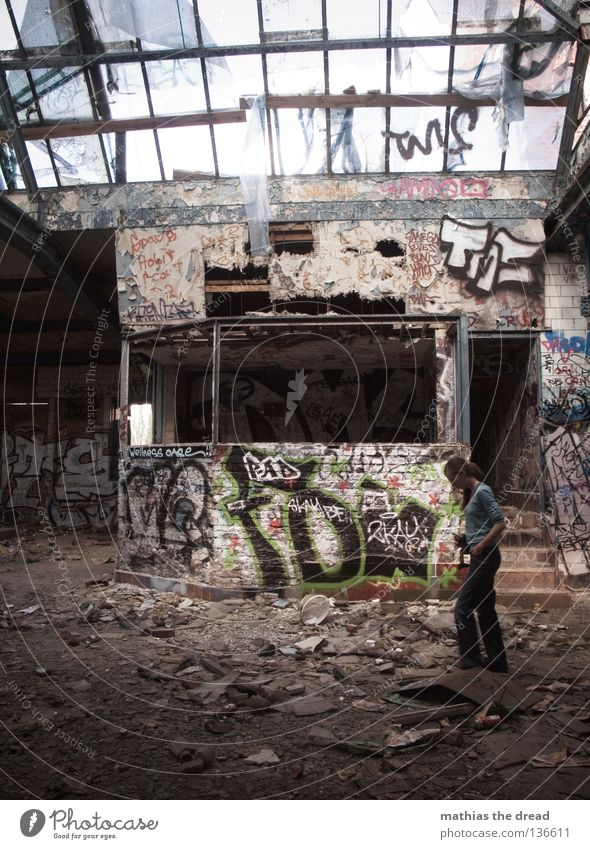 ON AN INSPIRATION COURSE Hall Large Extensive Surveillance Looking Review Search Small Timidity Calm Shard Skylight Broken Glittering Dirty Multicoloured