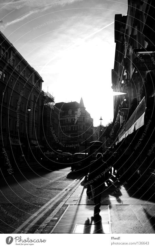 Human being Man City Loneliness Street Asphalt Sidewalk Traffic infrastructure Paving stone City life Soho