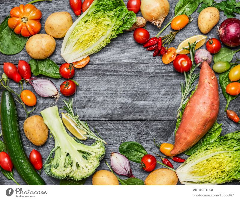 Selection of colorful organic farm vegetables Food Vegetable Nutrition Lunch Dinner Banquet Organic produce Vegetarian diet Diet Style Design Healthy Eating