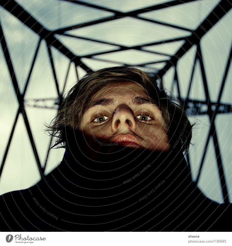 Man Face Metal Industry Electricity pylon Scaffold