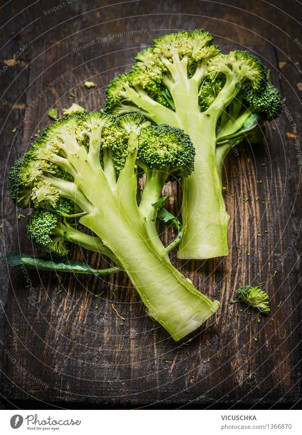 Healthy Eating Dark Life Food photograph Style Design Nutrition Table Vegetable Organic produce Vegetarian diet Diet Wooden table Vegan diet Broccoli