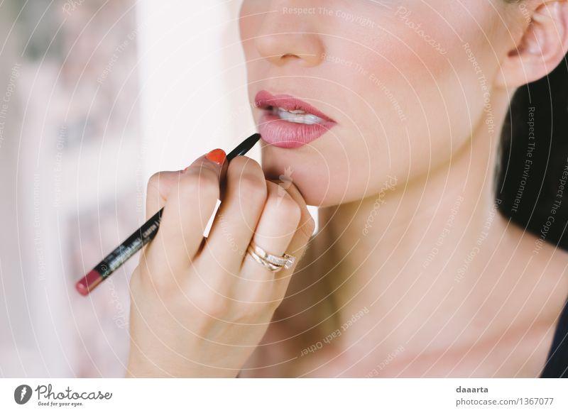 lipstick Lifestyle Elegant Style Design Joy Beautiful Skin Face Make-up Lipstick Nail polish Harmonious Leisure and hobbies Adventure Freedom Event