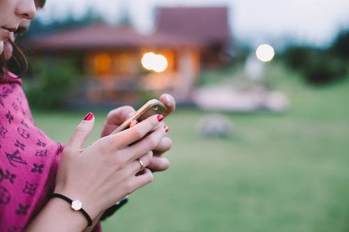 e-life Lifestyle Elegant Nail polish Harmonious Senses Relaxation Leisure and hobbies Playing Cellphone PDA Event Going out Accessory Jewellery Friendliness